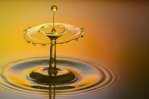 Harmonie d'une goutte d'eau, représentation d'une harmonie énergétique