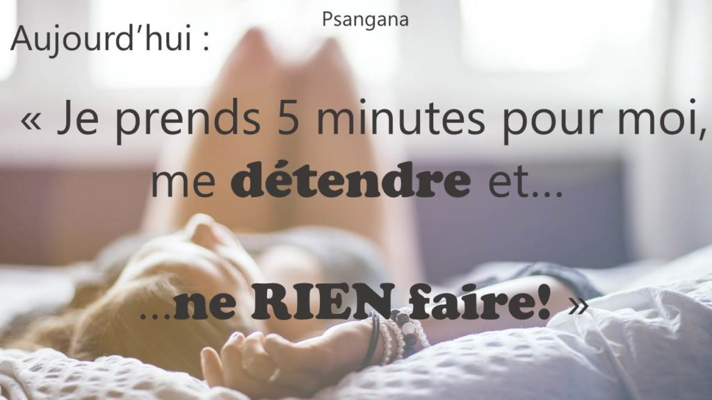 Ne rien faire...